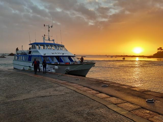 Ferry van Pointe de l'Arcouest naar Île Bréhat in Bretagne aan Côte du Goëlo