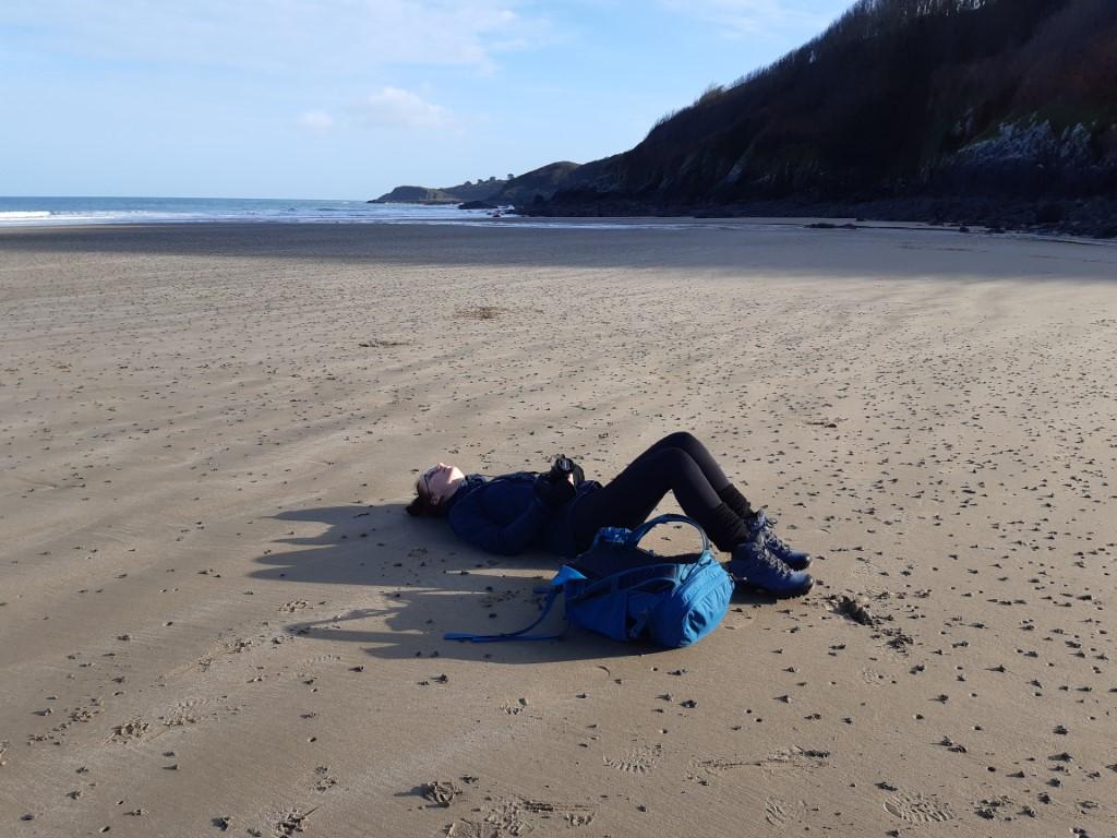 Plage du Palus Côte du Goëlo Bretagne liggen op strand