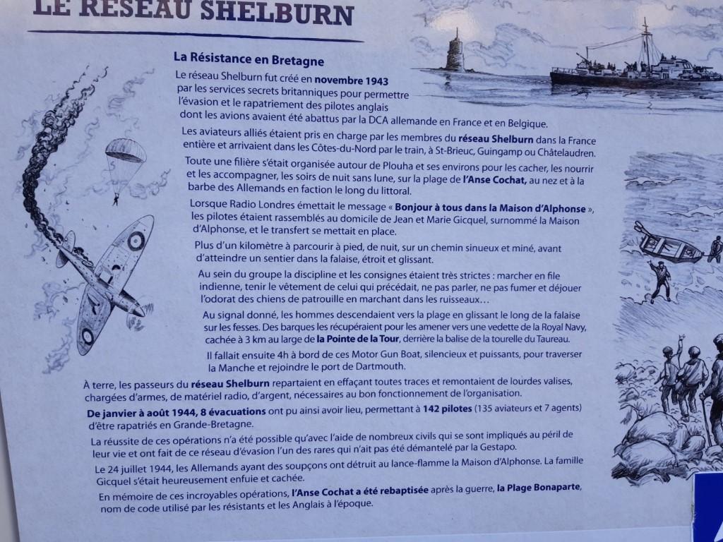 Shelburn Network informatiebord Plage Bonaparte Côte du Goëlo Bretagne