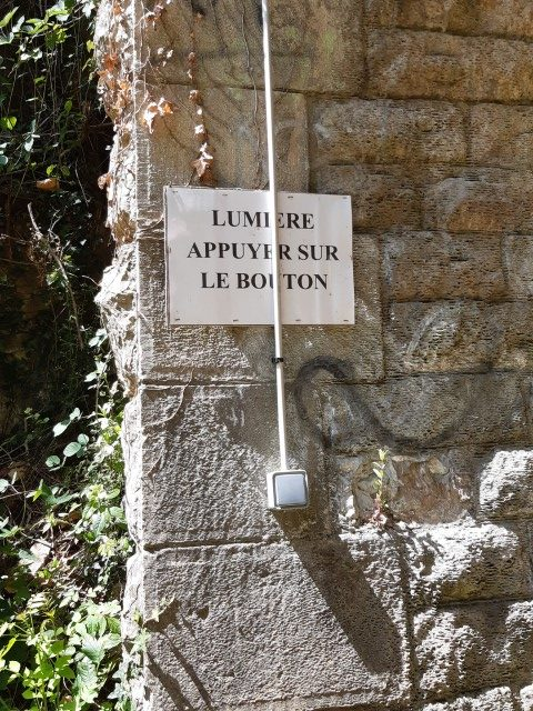 Voie Verte Aveyron Bozouls tot Espalion lichtknopje