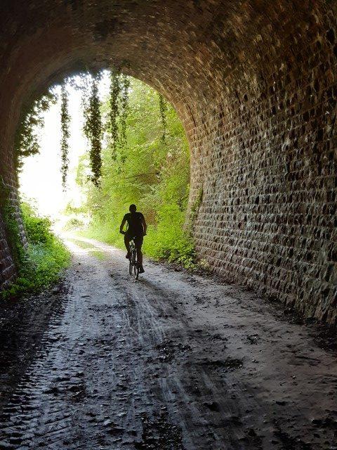 Voie Verte Aveyron Bozouls tot Espalion tunnel