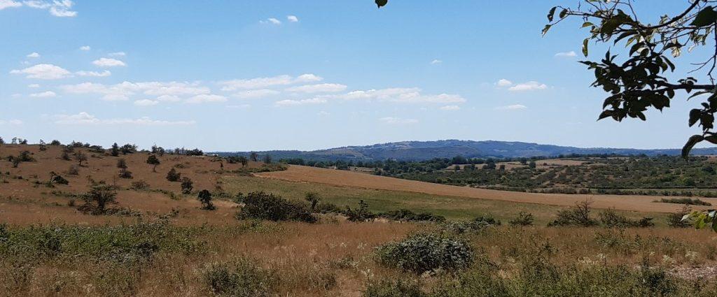 Causse Comtal weids uitzicht
