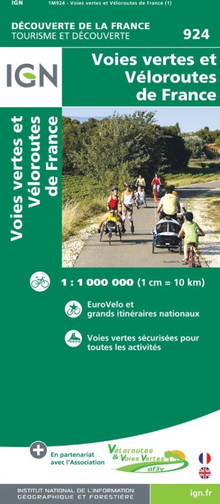 IGN-kaart Voies Vertes et Véloroutes de France