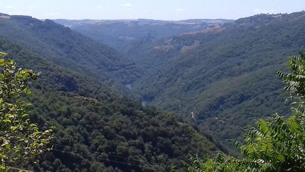 Saut du Chien waterval Truyère Aubrac uitzicht