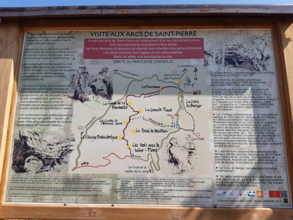 Arcs de Saint-Pierre informatiebord